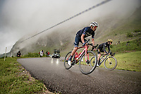 Vincenzo Nibali (ITA/Trek-Segafredo) descending the Col de la Colombière (1618 m)<br /> <br /> Stage 8 from Oyonnax to Le Grand-Bornand (151km)<br /> 108th Tour de France 2021 (2.UWT)<br /> <br /> ©kramon