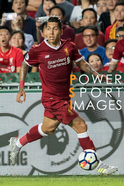 Liverpool FC forward Roberto Firmino in action during the Premier League Asia Trophy match between Liverpool FC and Leicester City FC at Hong Kong Stadium on 22 July 2017, in Hong Kong, China. Photo by Weixiang Lim / Power Sport Images