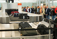 Baggage claim conveyor at Philadelphia airport, Pennsylvania, USA
