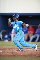 SCF Manatees Keshawn Lynch (2) at bat during a game against the College of Central Florida Patriots on February 8, 2017 at Robert C. Wynn Field in Bradenton, Florida.  SCF defeated Central Florida 6-5 in eleven innings.  (Mike Janes/Four Seam Images)