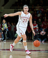 STANFORD, CA - February  10, 2011: Stanford Cardinal's Jeanette Pohlen during the Stanford vs Washington State game at Maples Pavilion in Stanford, California.