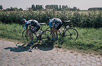 helping the team leader by lending your wheel<br /> <br /> 92nd Schaal Sels 2017 <br /> 1 Day Race: Merksem > Merksem (188km)