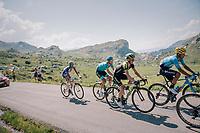 Adam Yates (GBR/Mitchelton Scott) up the Comet de Roselend<br /> <br /> Stage 11: Albertville > La Rosière / Espace San Bernardo (108km)<br /> <br /> 105th Tour de France 2018<br /> ©kramon