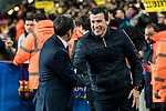Coach Juan Carlos Unzue Labiano of RC Celta de Vigo chats with coach Luis Ernesto Valverde Tejedor of FC Barcelona prior to the Copa Del Rey 2017-18 Round of 16 (2nd leg) match between FC Barcelona and RC Celta de Vigo at Camp Nou on 11 January 2018 in Barcelona, Spain. Photo by Vicens Gimenez / Power Sport Images