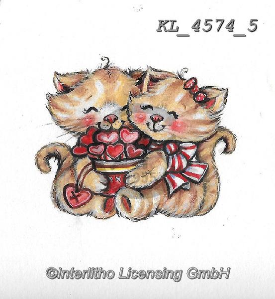 VALENTINE, VALENTIN, paintings+++++,KL4574/5,#v#, EVERYDAY ,sticker,stickers, ,sticker,stickers
