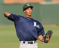 June 19, 2009: RHP Henry Villar (31) of the Lexington Legends, Class A affiliate of the Houston Astros, prior to a game against the Greenville Drive at Fluor Field at the West End in Greenville, S.C. Photo by: Tom Priddy/Four Seam Images