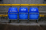 Coventry United 3 Highgate United 5, 17/10/2017. Butts Park Arena, Birmingham Senior Cup. Seats for the 4th official and sin binned players at the Butts Park Arena.  Photo by Paul Thompson.