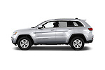 Car Driver side profile view of a 2017 JEEP Grand-Cherokee Laredo 5 Door SUV Side View