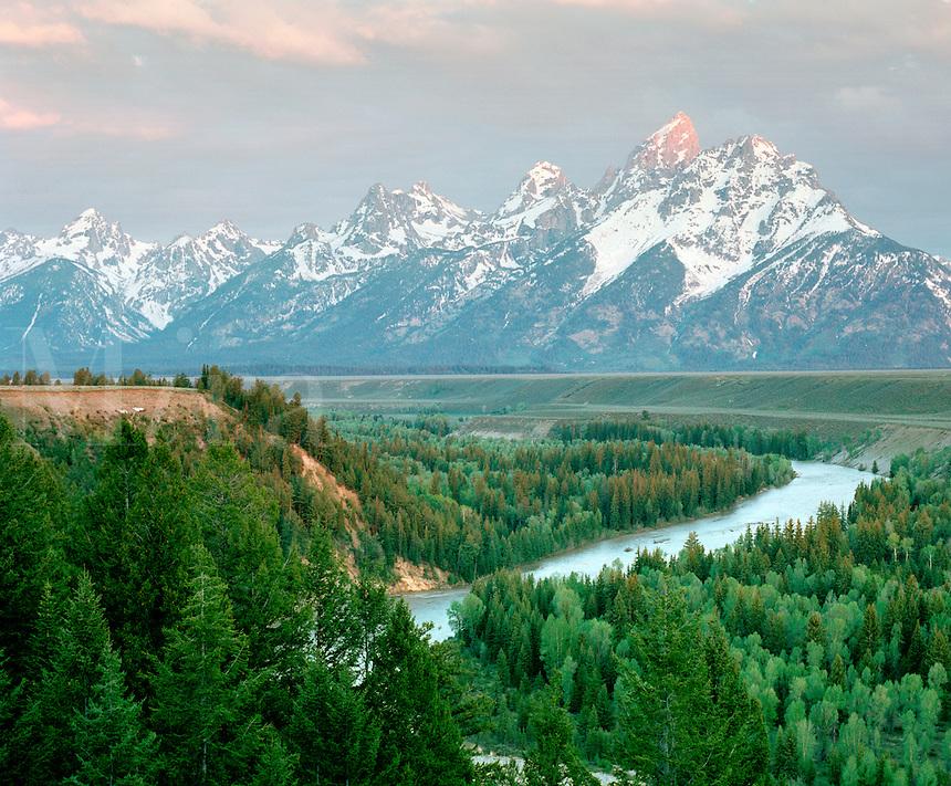 Snake River and Teton Range from Snake River Overlook, Grand Teton National Park, Wyoming