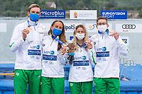 Bronze Medal<br /> HUNGARY<br /> ROHACSReka<br /> OLASZAnna<br /> BETLEHEMDavid<br /> RASOVSZKYKristof<br /> Team Event 5 km<br /> Open Water<br /> Budapest  - Hungary  15/5/2021<br /> Lupa Lake<br /> XXXV LEN European Aquatic Championships<br /> Photo Andrea Staccioli / Deepbluemedia / Insidefoto