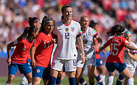 PARIS,  - JUNE 16: Tierna Davidson #12 waits for a corner kick during a game between Chile and USWNT at Parc des Princes on June 16, 2019 in Paris, France.