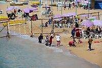 EGYPT, Alexandria, sea bath at Mediterranean Sea / AEGYPTEN, Alexandria, Seebad am Mittelmeer