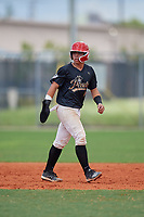 Ariel Antigua (9) during the WWBA World Championship at Lee County Player Development Complex on October 10, 2020 in Fort Myers, Florida.  Ariel Antigua, a resident of Lake Worth, Florida who attends Trinity Christian Academy, is committed to South Carolina.  (Mike Janes/Four Seam Images)