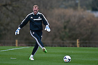 Thursday 20 March 2014<br /> Pictured: Gerhard Tremmel<br /> Re: Swansea City Training at their Fairwood training facility, Swansea, Wales,UK
