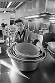 Catering staff at Southwark Council's Lugard Road kitchens.