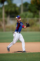 Logan Kohler during the WWBA World Championship at the Roger Dean Complex on October 19, 2018 in Jupiter, Florida.  Logan Kohler is a third baseman from Little Elm, Texas who attends Little Elm High School and is committed to Oklahoma.  (Mike Janes/Four Seam Images)