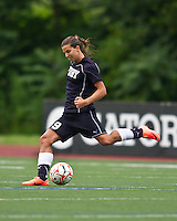 The Boston Breakers beat the New York Fury 2-0 at Dilboy Stadium.  New York Fury midfielder Tobin Heath (19) made her debut in the game.