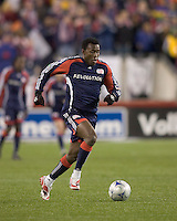 New England Revolution forward/midfielder Kenny Mansally (29) .The New England Revolution defeated FC Dallas, 2-1, at Gillette Stadium on April 4, 2009. Photo by Andrew Katsampes /isiphotos.com