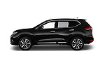 Car driver side profile view of a 2019 Nissan X-Trail Tekna 5 Door SUV