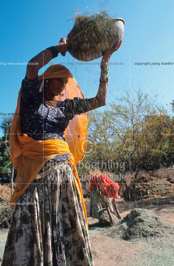 INDIA Rajasthan Tilonia, women work at farm / INDIEN Frauen arbeiten auf einer Farm