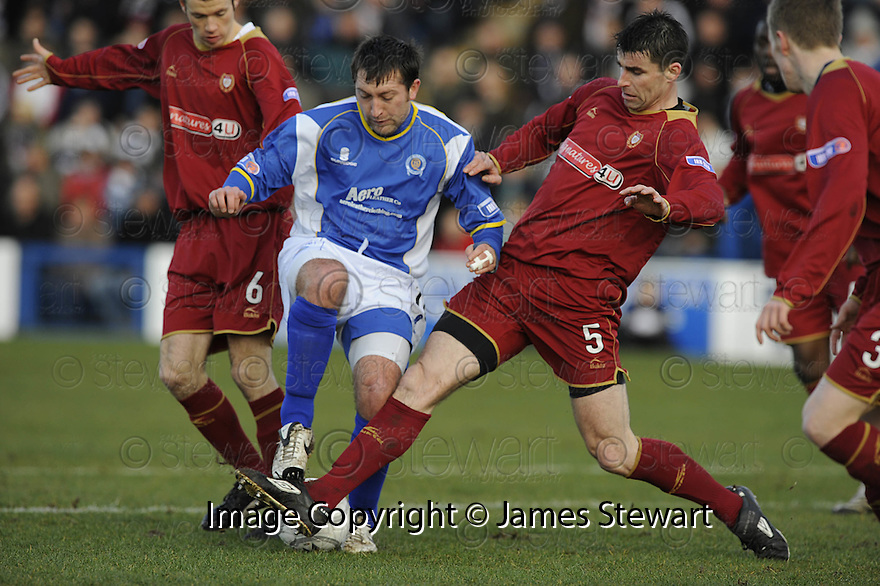 08/03/2008    Copyright Pic: James Stewart.File Name : sct_jspa01_qots_v_dundee.STEPHEN DOBBIE AND MILAN PALENIK CHALLENGE.James Stewart Photo Agency 19 Carronlea Drive, Falkirk. FK2 8DN      Vat Reg No. 607 6932 25.Studio      : +44 (0)1324 611191 .Mobile      : +44 (0)7721 416997.E-mail  :  jim@jspa.co.uk.If you require further information then contact Jim Stewart on any of the numbers above........