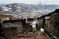 View from Marbella Slum, Freetown, Sierra Leone onto the Bay.