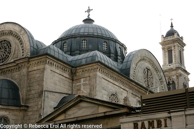 The Greek Orthodox church Hagia Triada on Taksim Square, Istanbul, Turkey