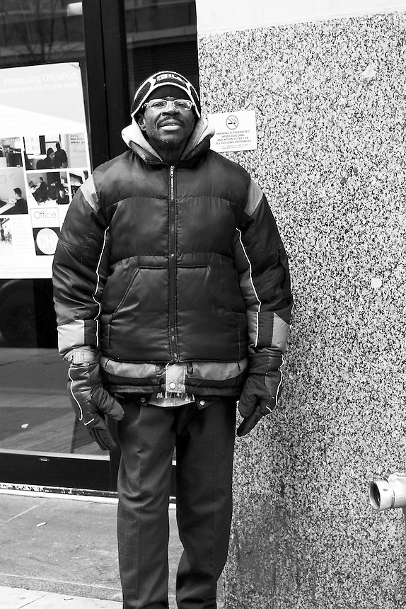 Images of homeless and desperate people trying to exist on the streets of Chicago