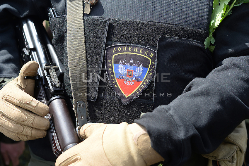 Pro-Russian forces celebrate in Donetsk  the Victory Day, the Soviet holiday commemorating the defeat of the Nazis.  Sunday is May 11, the proposed date for the separatists' referendum on greater autonomy for eastern Ukraine.
