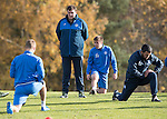 St Johnstone Training….28.10.16<br />Manager Tommy Wright watches training this morning at McDiarmid Park ahead of tomorrow's game against Partick Thistle.<br />Picture by Graeme Hart.<br />Copyright Perthshire Picture Agency<br />Tel: 01738 623350  Mobile: 07990 594431
