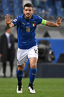 Alessandro Florenzi of Italy reacts during the Uefa Nation League Group Stage A1 football match between Italy and Poland at Citta del Tricolore Stadium in Reggio Emilia (Italy), November, 15, 2020. Photo Andrea Staccioli / Insidefoto