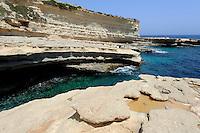 Peter's Pool auf der Delimara-Halbinsel, Malta, Europa