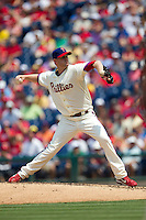 Philadelphia Phillies pitcher Kyle Kendrick #38 delviers during the Major League Baseball game against the Pittsburgh Pirates on June 28, 2012 at Citizens Bank Park in Philadelphia, Pennsylvania. The Pirates defeated the Phillies 5-4. (Andrew Woolley/Four Seam Images)..