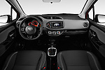 Stock photo of straight dashboard view of a 2015 Toyota Yaris SE 5-Door Liftback AT 5 Door Hatchback Dashboard