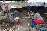 Africa, Swaziland, Malkerns. Women selling corn in the local Manzini market. Patience Zanele.