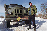 Belarus/Weissrussland, 2005/03/23<br /> KOLSCHITCHI. A driver who provides special services in the radioactive contaminated Chernobyl zone in Belarus.<br /> ? Vaclav Vasku/EST&OST