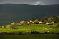 Blindhurst Farm looking towards Bleasdale Moors,  Bleasdale, Lancashire.