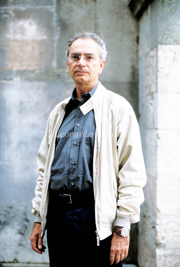Daniele Del Giudice, scrittore, giornalista, romanziere italiano. Libri, cultura italiana. Modena, 23 settembre 2002. Photo by Leonardo Cendamo/Gettyimages
