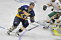 15 February 2008: Merrimack College Warriors' forward Mike Vaskivuo, a Sophomore from Helsinki, Finland, in action against the University of Vermont Catamounts at Gutterson Fieldhouse in Burlington, Vermont. The Catamounts defeated the Warriors 4-1 in the first game of their 2-game weekend series...Mandatory Photo Credit: Ed Wolfstein Photo