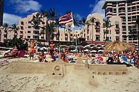 sand castle at  Kailua beach