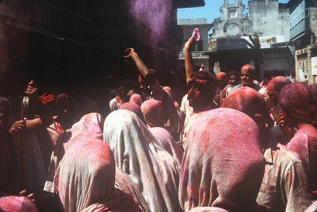 Holi Celebration, Spring, Brindaban, India