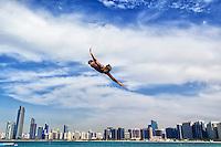 TRAINING<br />FINA High Diving World Cup 2016<br />Abu Dhabi Sailing and Yacht Club <br />Corniche Breakwater -Abu Dhabi - U.A.E.<br />Day2  28 Feb.2016<br />Photo Andrea Staccioli/Deepbluemedia/Insidefoto