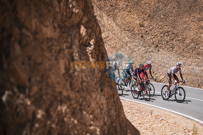 The 18 man breakaway during Stage 14 of La Vuelta d'Espana 2021, running 165.7km from Don Benito to Pico Villuercas, Spain. 28th August 2021.     <br /> Picture: Unipublic/Charly Lopez | Cyclefile<br /> <br /> All photos usage must carry mandatory copyright credit (© Cyclefile | Charly Lopez/Unipublic)