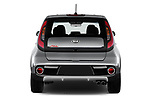 Straight rear view of 2018 KIA Soul Exclaim 5 Door Hatchback Rear View  stock images