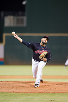 AZL Indians relief pitcher Luis Araujo (51) delivers a pitch to the plate against the AZL Padres on August 30, 2017 at Goodyear Ball Park in Goodyear, Arizona. AZL Padres defeated the AZL Indians 7-6. (Zachary Lucy/Four Seam Images)