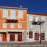 Traditional mansions at Hydra, Greece