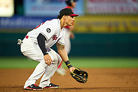 Rochester Red Wings third baseman Derek Dietrich (56) during a game against the Worcester Red Sox on September 3, 2021 at Frontier Field in Rochester, New York.  (Mike Janes/Four Seam Images)