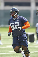 Virginia guard Billy Cuffee during open spring practice for the Virginia Cavaliers football team August 7, 2009 at the University of Virginia in Charlottesville, VA. Photo/Andrew Shurtleff