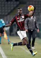 Calcio, quarti di finale di Coppa Italia: Alessandria vs Milan. Torino, stadio Olimpico, 26 gennaio 2016.<br /> AC Milan's Mario Balotelli touches the ball during the Italian Cup semifinal first leg football match between Alessandria and AC Milan at Turin's Olympic stadium, 26 January 2016.<br /> UPDATE IMAGES PRESS/Isabella Bonotto