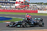 44 HAMILTON Lewis (gbr), Mercedes AMG F1 GP W12 E Performance, action celebrating his victory during the Formula 1 Pirelli British Grand Prix 2021, 10th round of the 2021 FIA Formula One World Championship from July 16 to 18, 2021 on the Silverstone Circuit, in Silverstone, United Kingdom -<br /> Formula 1 GP Great Britain Silverstone 18/07/2021<br /> Photo DPPI/Panoramic/Insidefoto <br /> ITALY ONLY